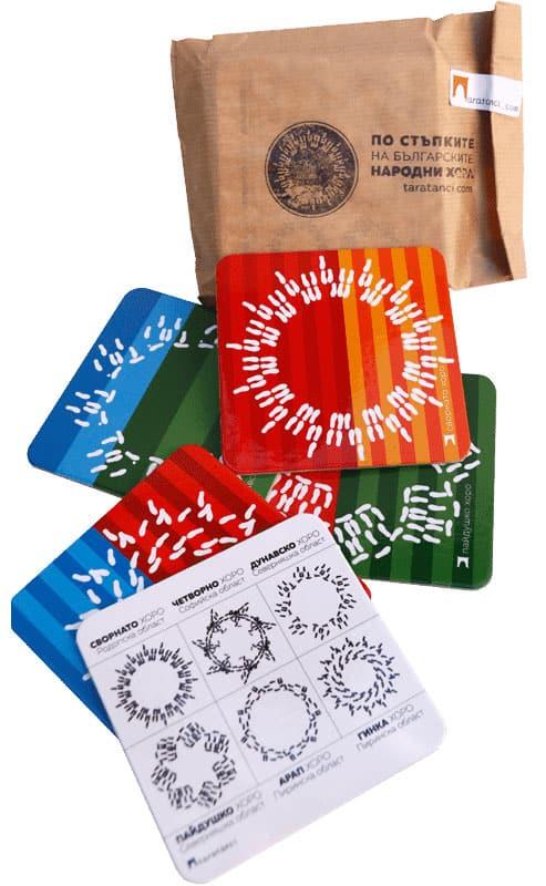 подложки за чаши от Таратанци подаръчен комплект