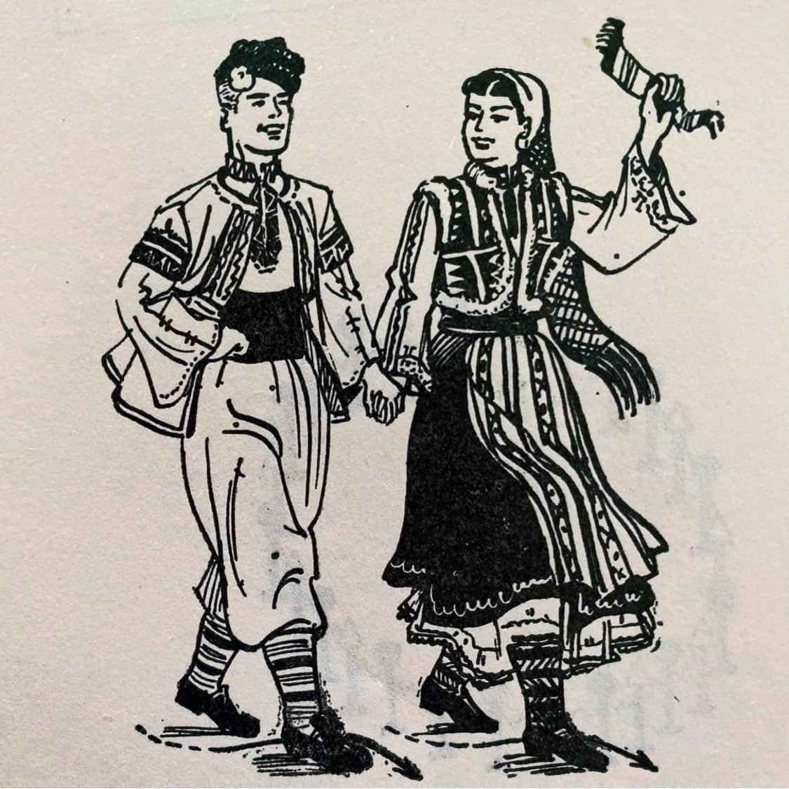 илюстрация Дайчово хоро кръстосани пайдушки