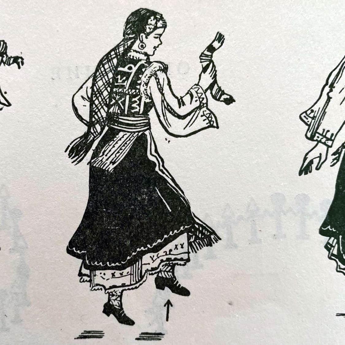 илюстрация Дайчово хоро свит крак с подскок на място