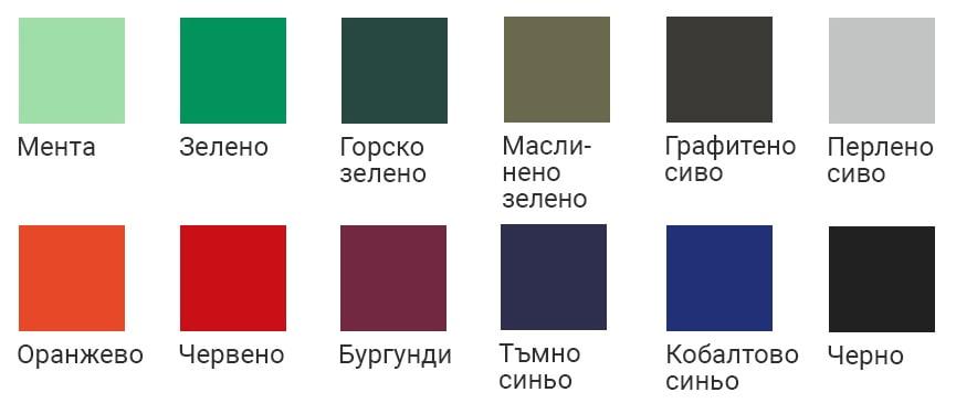 Цветове за мъжки тениски с бял принт