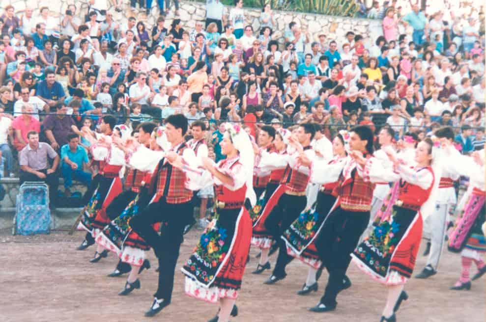 """Ансамбъл """"Зорница"""" в Израел 1994 г. - """"Фолклорни герои"""" - рубрика на Таратанци"""